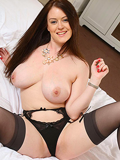 Brooke G in Black Stockings