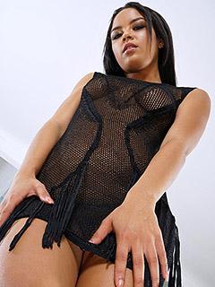 Maya Bijou in Sexy Black Dress