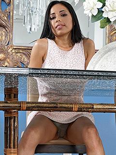 Maya Pearl in Upskirt Teasing
