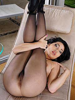 Rina Ellis in Black Pantyhose