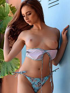 Sophia Blake in Blue Bikini