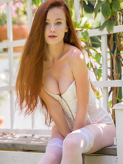 Emily Bloom in Garden