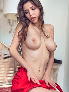 Mila Azul in Red Passion