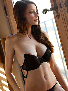 Rilee Marks in Black Lingerie
