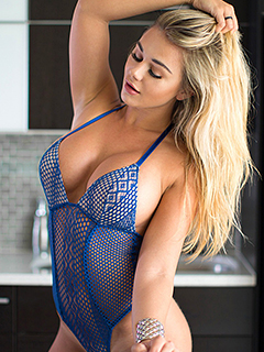 Tahlia Paris in Blue Bodysuit