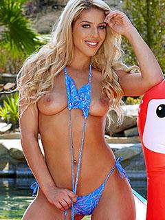 Jillisa Lynn in Blue Bikini