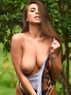 Sarah McDonald in Sexy Bodysuit