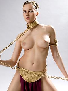 Stacy Cruz in Slave Leia