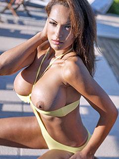 Fernanda Ferrari in Yellow Bikini