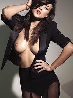 Rosie Jones in Black Pantyhose