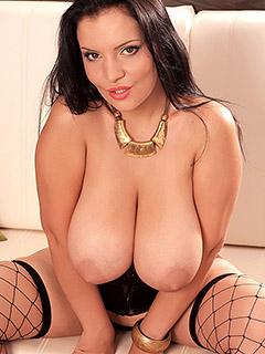 Lana Ivans in Black Corset