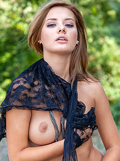 Anna Tatu in Butterfly Lace