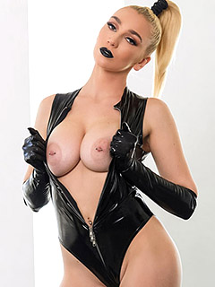Kendra Sunderland in Black Latex