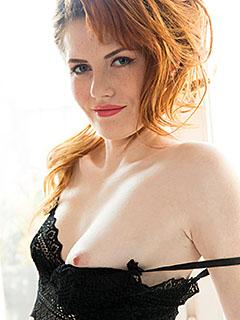 Anna Swix in Black Lingerie