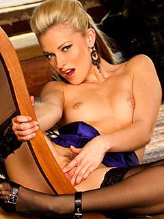 Lena Nicole in Black Stockings