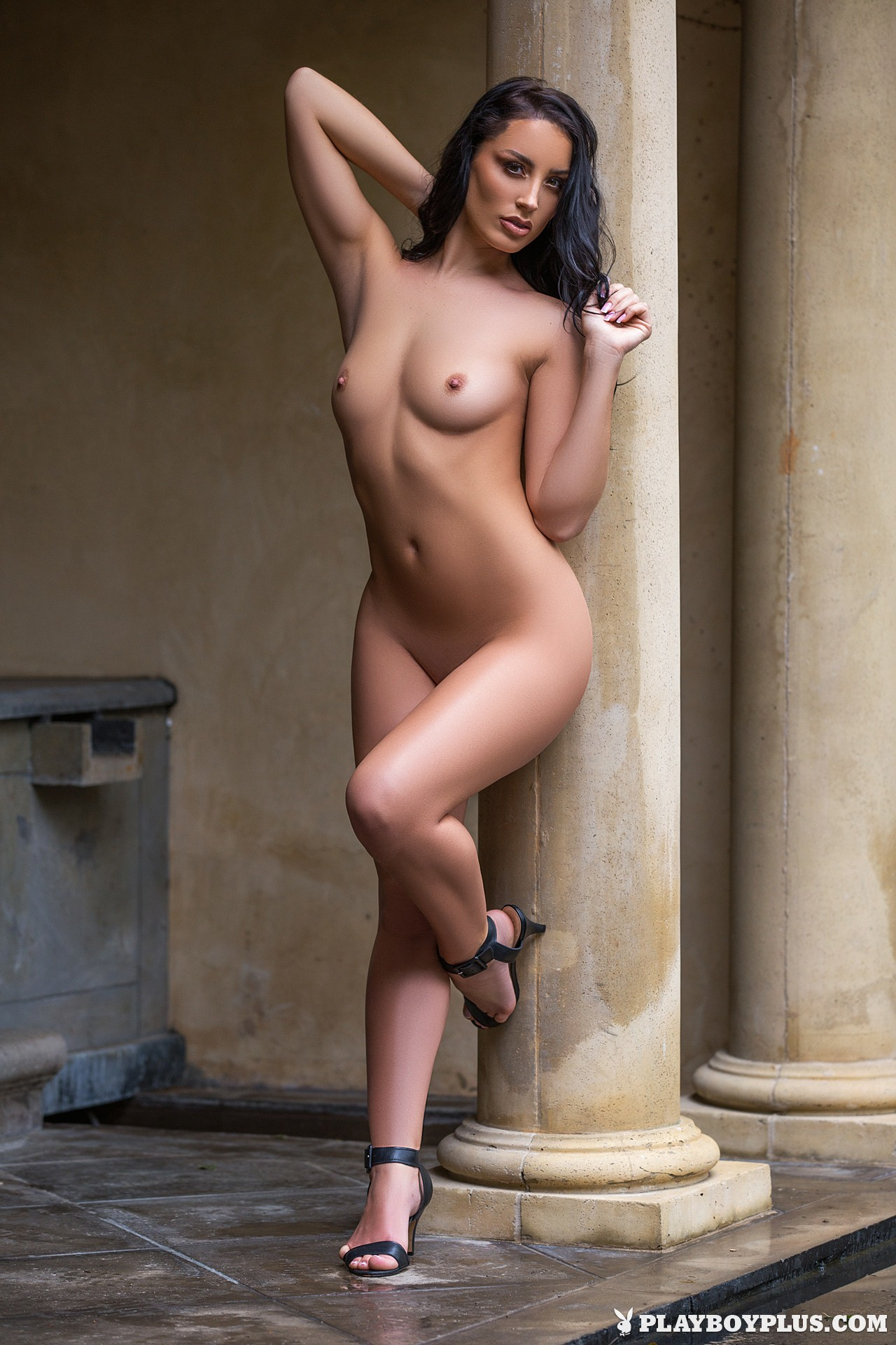 Nude at front door
