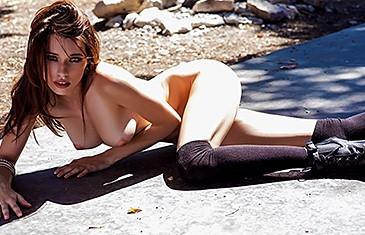 Caitlin McSwain in Outdoor Nude